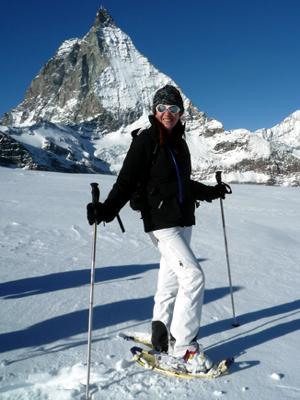 Schneeschuhwandern Schneeschuhlaufen Bergführer Zermatt