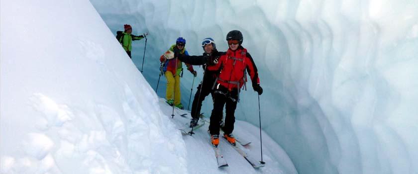 Freeride Gletscherabfahrten Bergführer Zermatt